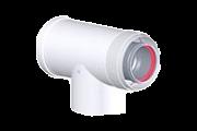 Tricox AAET60C alu/alu 80/125 ellenörző T-idom