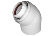 Tricox AAKÖ502C alu/alu 60/100 2db könyök 45 fok