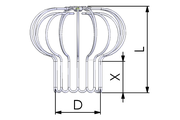 Tricox MR1 inox madárvédő rács 80-90-100mm