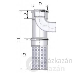 Tricox AAKT60 alu/alu 80/125 kültéri T-idom